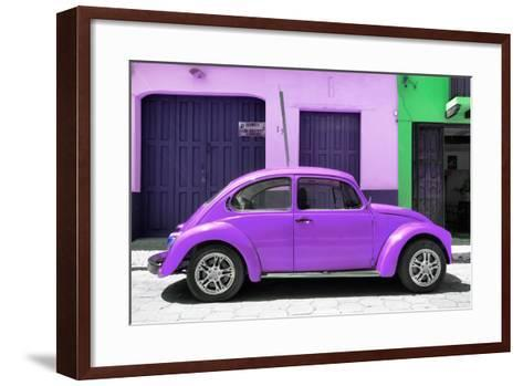 ¡Viva Mexico! Collection - The Purple Beetle Car-Philippe Hugonnard-Framed Art Print