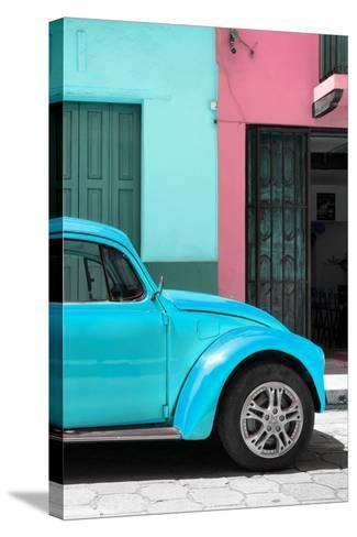 ?Viva Mexico! Collection - The Turquoise Beetle-Philippe Hugonnard-Stretched Canvas Print