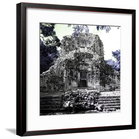 ¡Viva Mexico! Square Collection - Mayan Ruins of Campeche IV-Philippe Hugonnard-Framed Art Print