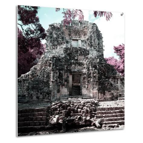 ¡Viva Mexico! Square Collection - Mayan Ruins of Campeche III-Philippe Hugonnard-Metal Print