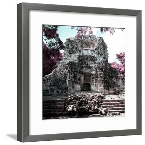 ¡Viva Mexico! Square Collection - Mayan Ruins of Campeche III-Philippe Hugonnard-Framed Art Print