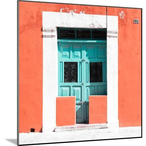 """¡Viva Mexico! Square Collection - """"130 Street"""" Coral Wall-Philippe Hugonnard-Mounted Photographic Print"""