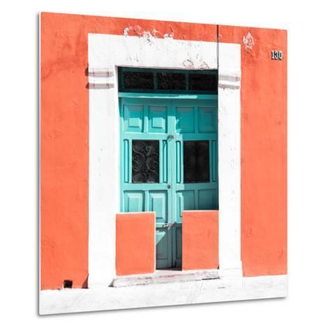 """¡Viva Mexico! Square Collection - """"130 Street"""" Coral Wall-Philippe Hugonnard-Metal Print"""