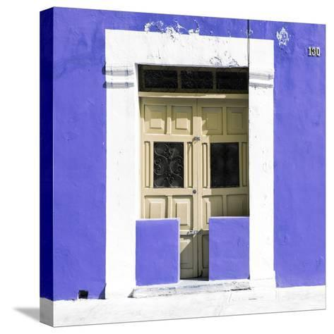 """¡Viva Mexico! Square Collection - """"130 Street"""" Purple Wall-Philippe Hugonnard-Stretched Canvas Print"""