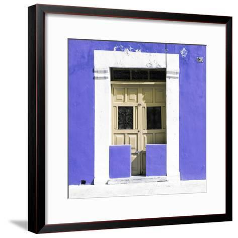 """¡Viva Mexico! Square Collection - """"130 Street"""" Purple Wall-Philippe Hugonnard-Framed Art Print"""