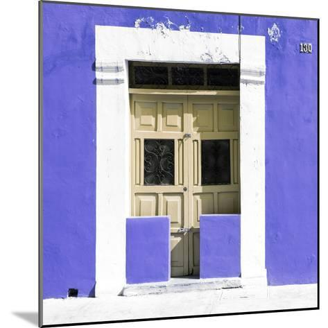 """¡Viva Mexico! Square Collection - """"130 Street"""" Purple Wall-Philippe Hugonnard-Mounted Photographic Print"""