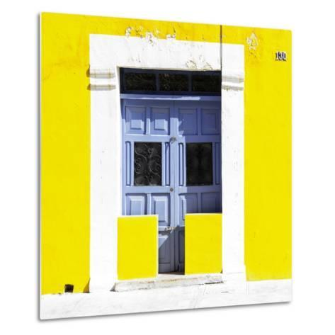 """¡Viva Mexico! Square Collection - """"130 Street"""" Yellow Wall-Philippe Hugonnard-Metal Print"""