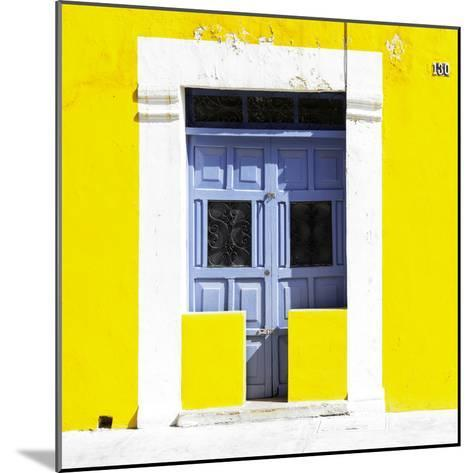 """¡Viva Mexico! Square Collection - """"130 Street"""" Yellow Wall-Philippe Hugonnard-Mounted Photographic Print"""