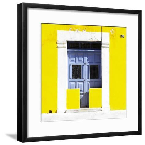 """¡Viva Mexico! Square Collection - """"130 Street"""" Yellow Wall-Philippe Hugonnard-Framed Art Print"""