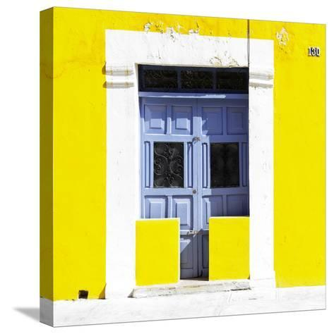 """¡Viva Mexico! Square Collection - """"130 Street"""" Yellow Wall-Philippe Hugonnard-Stretched Canvas Print"""