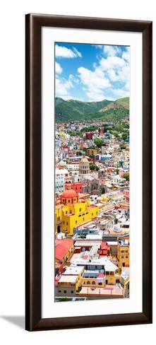 ¡Viva Mexico! Panoramic Collection - Guanajuato Colorful Cityscape V-Philippe Hugonnard-Framed Art Print