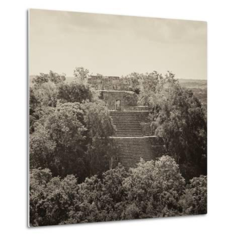 ¡Viva Mexico! Square Collection - Pyramid in Mayan City of Calakmul II-Philippe Hugonnard-Metal Print