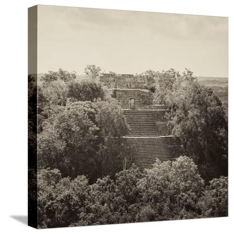 ¡Viva Mexico! Square Collection - Pyramid in Mayan City of Calakmul II-Philippe Hugonnard-Stretched Canvas Print