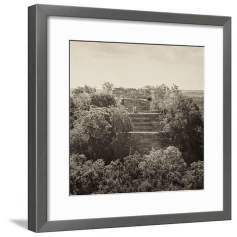 ¡Viva Mexico! Square Collection - Pyramid in Mayan City of Calakmul II-Philippe Hugonnard-Framed Art Print