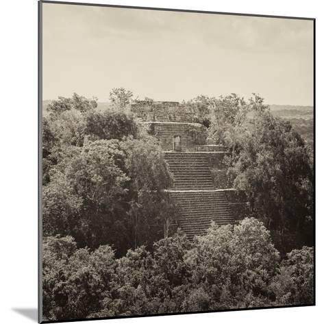 ¡Viva Mexico! Square Collection - Pyramid in Mayan City of Calakmul II-Philippe Hugonnard-Mounted Photographic Print