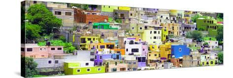 ¡Viva Mexico! Panoramic Collection - Guanajuato Colorful City XV-Philippe Hugonnard-Stretched Canvas Print