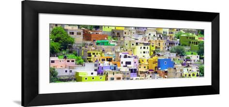 ¡Viva Mexico! Panoramic Collection - Guanajuato Colorful City XV-Philippe Hugonnard-Framed Art Print