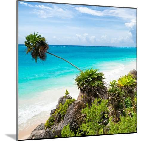 ¡Viva Mexico! Square Collection - Tulum Caribbean Coastline-Philippe Hugonnard-Mounted Photographic Print