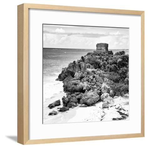 ¡Viva Mexico! Square Collection - Tulum Ruins along Caribbean Coastline XII-Philippe Hugonnard-Framed Art Print