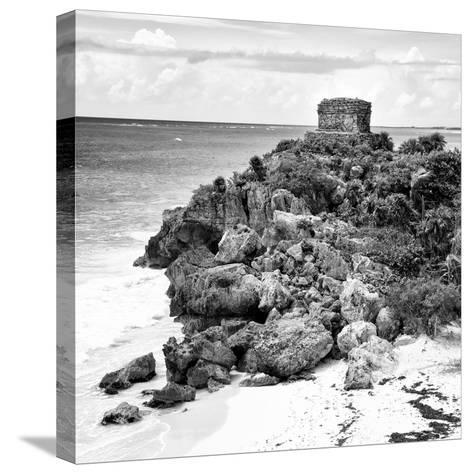 ¡Viva Mexico! Square Collection - Tulum Ruins along Caribbean Coastline XII-Philippe Hugonnard-Stretched Canvas Print