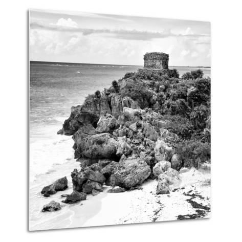 ¡Viva Mexico! Square Collection - Tulum Ruins along Caribbean Coastline XII-Philippe Hugonnard-Metal Print