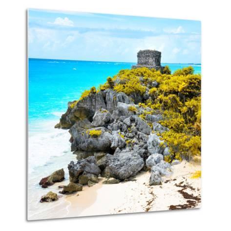 ¡Viva Mexico! Square Collection - Tulum Ruins along Caribbean Coastline XI-Philippe Hugonnard-Metal Print