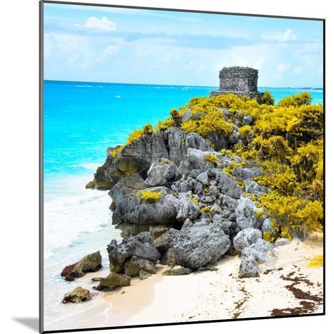 ¡Viva Mexico! Square Collection - Tulum Ruins along Caribbean Coastline XI-Philippe Hugonnard-Mounted Photographic Print