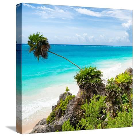 ¡Viva Mexico! Square Collection - Tulum Caribbean Coastline-Philippe Hugonnard-Stretched Canvas Print
