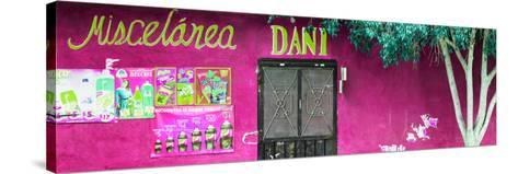 ¡Viva Mexico! Panoramic Collection - Deep Pink Dani Supermarket-Philippe Hugonnard-Stretched Canvas Print