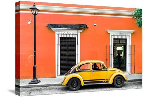 ¡Viva Mexico! Collection - VW Beetle Car - Orange & Gold-Philippe Hugonnard-Stretched Canvas Print