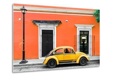 ¡Viva Mexico! Collection - VW Beetle Car - Orange & Gold-Philippe Hugonnard-Metal Print