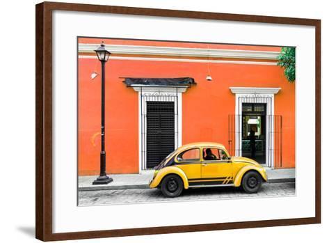¡Viva Mexico! Collection - VW Beetle Car - Orange & Gold-Philippe Hugonnard-Framed Art Print