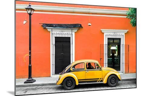 ¡Viva Mexico! Collection - VW Beetle Car - Orange & Gold-Philippe Hugonnard-Mounted Photographic Print