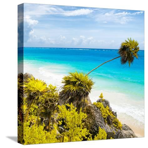 ¡Viva Mexico! Square Collection - Tulum Caribbean Coastline II-Philippe Hugonnard-Stretched Canvas Print