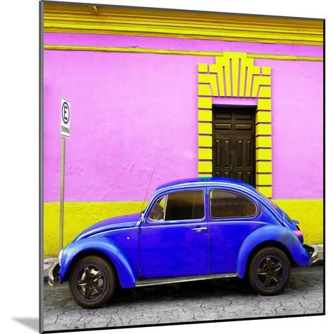 ¡Viva Mexico! Square Collection - Royal Blue VW Beetle - San Cristobal-Philippe Hugonnard-Mounted Photographic Print