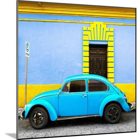 ¡Viva Mexico! Square Collection - Turquoise VW Beetle - San Cristobal-Philippe Hugonnard-Mounted Photographic Print