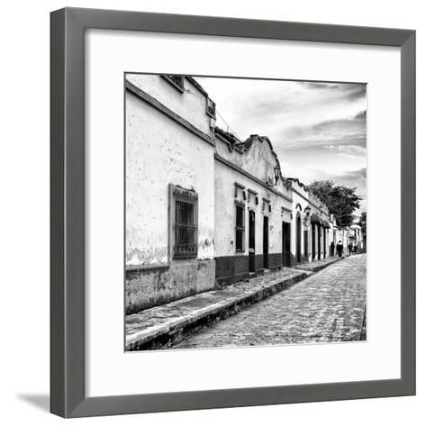 ¡Viva Mexico! Square Collection - Street Scene in San Cristobal de Las Casas I-Philippe Hugonnard-Framed Art Print