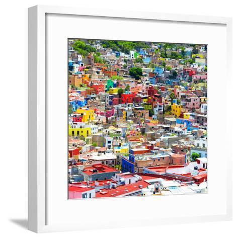 ¡Viva Mexico! Square Collection - Colorful Guanajuato IX-Philippe Hugonnard-Framed Art Print