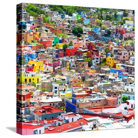 ¡Viva Mexico! Square Collection - Colorful Guanajuato IX-Philippe Hugonnard-Stretched Canvas Print