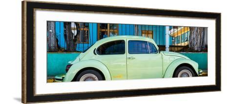 "¡Viva Mexico! Panoramic Collection - ""Summer"" VW Beetle Car-Philippe Hugonnard-Framed Art Print"