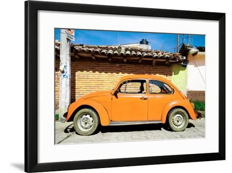 ¡Viva Mexico! Collection - Orange Volkswagen Beetle-Philippe Hugonnard-Framed Art Print