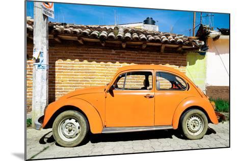 ¡Viva Mexico! Collection - Orange Volkswagen Beetle-Philippe Hugonnard-Mounted Photographic Print