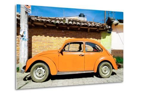 ¡Viva Mexico! Collection - Orange Volkswagen Beetle-Philippe Hugonnard-Metal Print