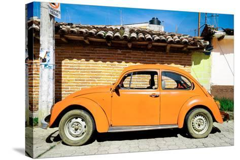 ¡Viva Mexico! Collection - Orange Volkswagen Beetle-Philippe Hugonnard-Stretched Canvas Print