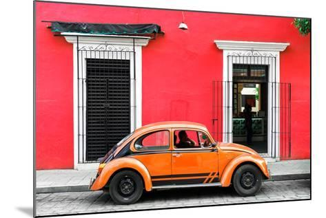 ¡Viva Mexico! Collection - VW Beetle - Red & Orange-Philippe Hugonnard-Mounted Photographic Print