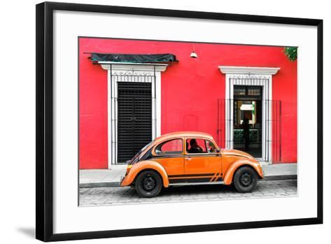 ¡Viva Mexico! Collection - VW Beetle - Red & Orange-Philippe Hugonnard-Framed Art Print