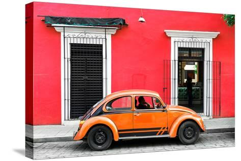 ¡Viva Mexico! Collection - VW Beetle - Red & Orange-Philippe Hugonnard-Stretched Canvas Print