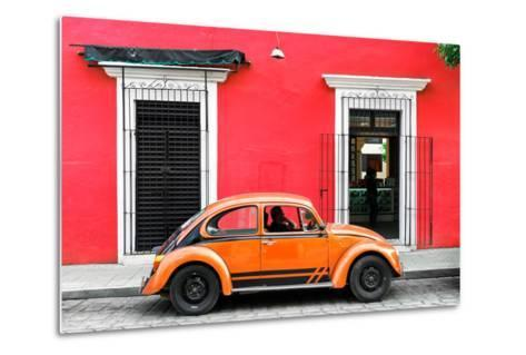 ¡Viva Mexico! Collection - VW Beetle - Red & Orange-Philippe Hugonnard-Metal Print