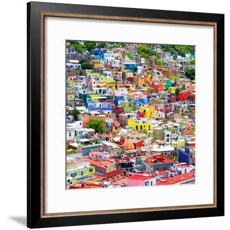 ¡Viva Mexico! Square Collection - Colorful Guanajuato VIII-Philippe Hugonnard-Framed Art Print