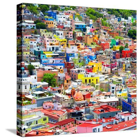 ¡Viva Mexico! Square Collection - Colorful Guanajuato VIII-Philippe Hugonnard-Stretched Canvas Print